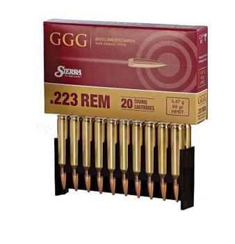 Amunicja .223 Rem GGG HPBT 4,47g/69gr (20 szt.)