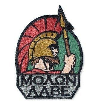 Naszywka  Sparta - Molon Labe kolor