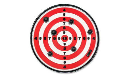 Naszywka 3D Target czerwona - 101 Inc.