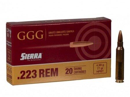 Amunicja .223 Rem GGG HPBT 4,99g/77gr (20 szt.)