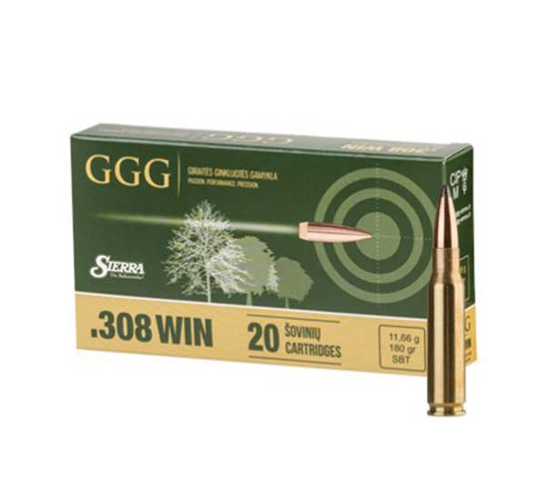 Amunicja .308 Win GGG Sierra SBT 10,7g/165gr (20 szt.)