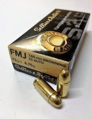 Amunicja 7,65 Browning/.32 Auto S&B FMJ 4.75g/73gr (50 szt.)