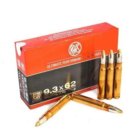 Amunicja 9,3x62 RWS EVO 18,8g/291gr (20 szt.)