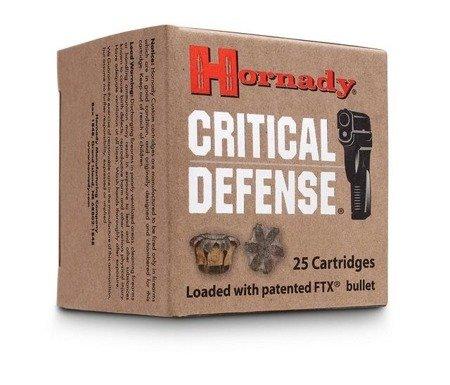 Amunicja 9x18 Hornady FTX Critical Defence 6,15g/95gr (25 szt.)