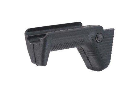 Krótki kątowy chwyt przedni na RIS 22mm - czarny