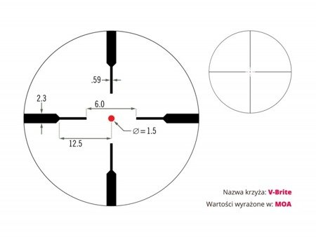 Luneta Vortex Crossfire II 3-12x56