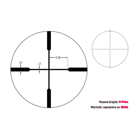 """Luneta celownicza Vortex Crossfire II 2-7x32 Scout 1"""" V-PLEX"""