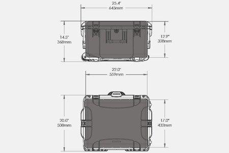 skrzynia transportowa NANUK 960 DJI RONIN MX Grafitowa