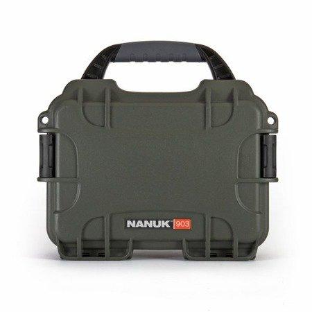 Skrzynia transportowa Nanuk 903 oliwkowa - bez wypełnienia