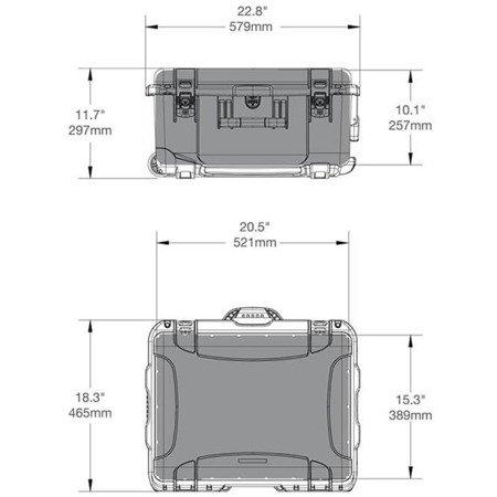 Skrzynia transportowa Nanuk 950 żółta - bez wypełnienia