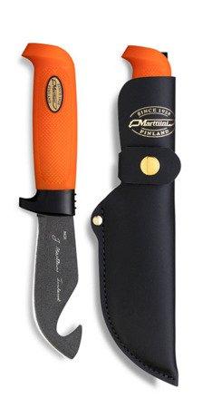Nóż Marttiini Martef Skining Orange with hook 378024T