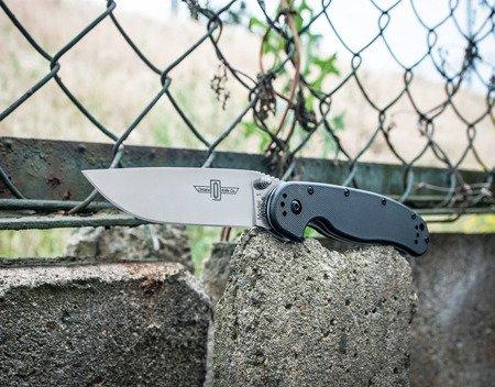 Nóż składany Ontario RAT-1 Folder Silver Plain Black Handle