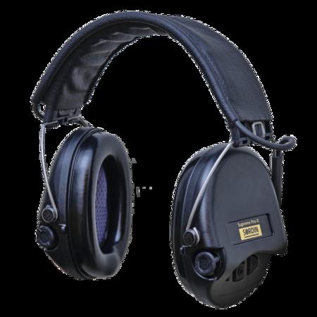 Ochronniki Słuchu Sordin Supreme Pro-X Leather czarne nagłowne