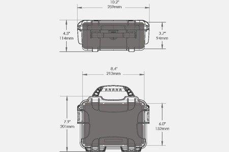 Skrzynia transportowa Nanuk 904 oliwkowa - bez wypełnienia