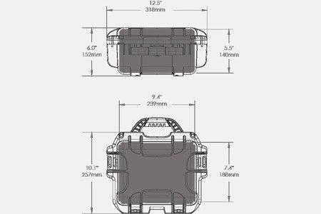 Skrzynia transportowa Nanuk 905 grafitowa - pianka modułowa wyrywana