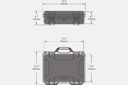 Skrzynia transportowa Nanuk 910 żółta - pianka modułowa wyrywana