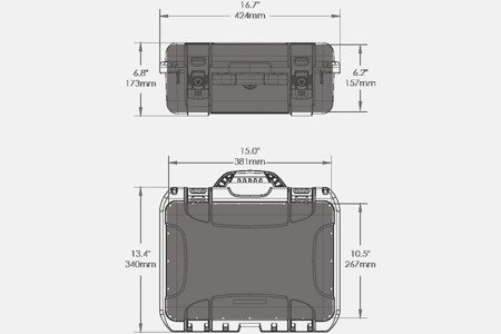 Skrzynia transportowa Nanuk 920 DJI™ MAVIC 2 PRO grafitowa