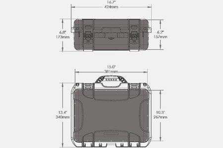 Skrzynia transportowa Nanuk 920 DJI™ MAVIC pomarańczowa