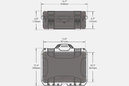 Skrzynia transportowa Nanuk 920 grafitowa - bez wypełnienia