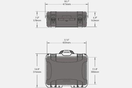 Skrzynia transportowa Nanuk 925 srebrna - pianka modułowa wyrywana