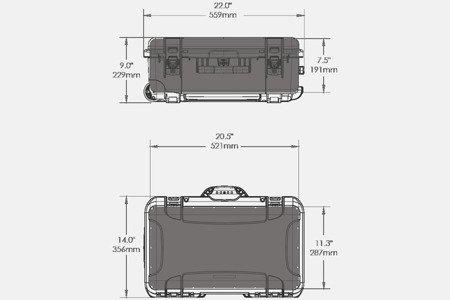 Skrzynia transportowa Nanuk 935 oliwkowa - 6UP PISTOL