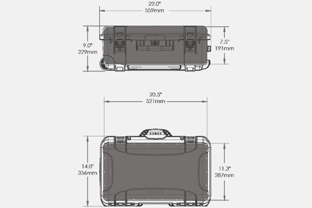 Skrzynia transportowa Nanuk 935 pomarańczowa - pianka modułowa wyrywana