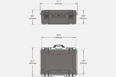 Skrzynia transportowa Nanuk 940 grafitowa - pianka modułowa wyrywana
