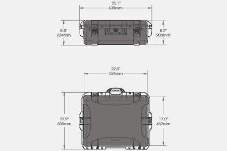 Skrzynia transportowa Nanuk 945 srebrna - pianka modułowa wyrywana