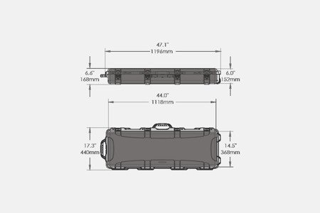 Skrzynia transportowa Nanuk 990 Oliwkowy - pianka AR-15