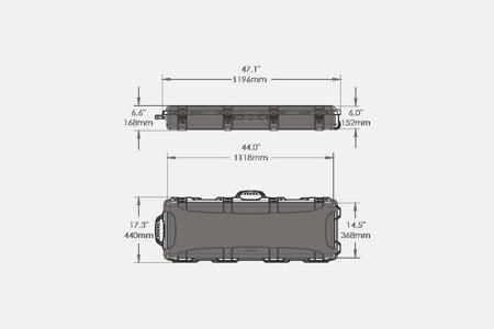 Skrzynia transportowa Nanuk 990 Tan - pianka AR-15