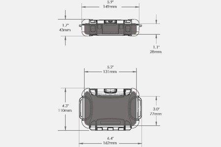 Skrzynia transportowa Nanuk Nano 310 transparentna